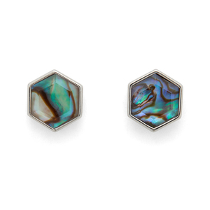 Ava Rose Madi Studs in Silver and Abalone