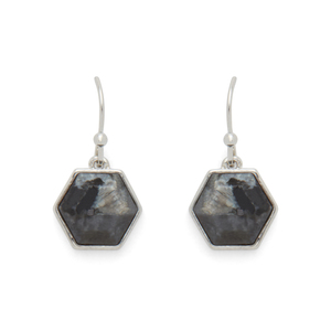 Ava Rose Madison Earrings in Silver and Lavrakite