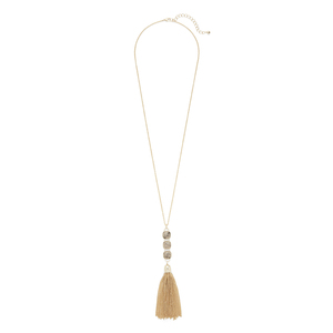 Ava Rose Hudson Necklace in Gold and Rutilated Quartz