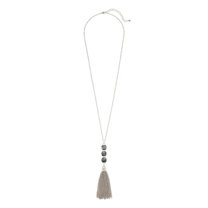 Ava Rose Hudson Necklace in Silver and Lavrakite
