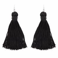 Perry Street Nova Fringe Earrings in Black