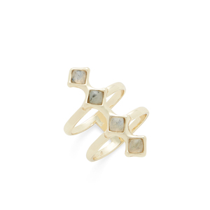 SLATE Ainsley Ring  in Gold and Labradorite