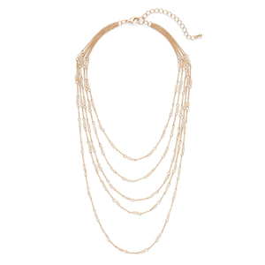 Sophie Harper Cylinder Beaded Layer Necklace