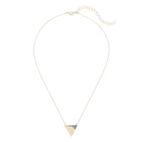 Sophie Harper Triangle Necklace with Cobalt Pavé