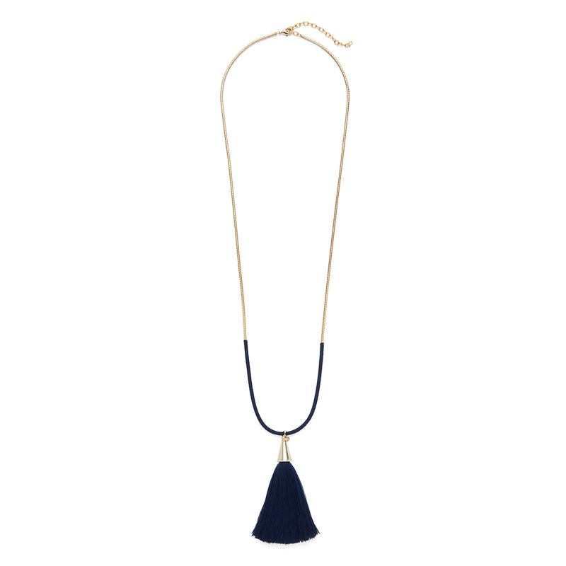 Aster Hyacinth Pendant in Navy