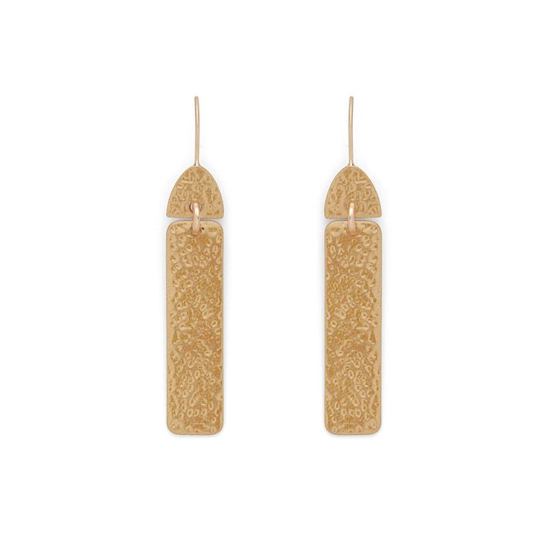 Aster Yarrow  Drop Earrings in Gold