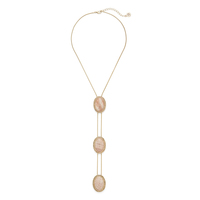 House of Harlow 1960 Tanta Crosshatch 3 Tier Bolo Pendant in Silk Stone