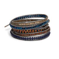 Nakamol Navy and Gold Wrap Bracelet