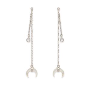 SLATE Remy Drop Earrings in Silver