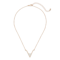 SLATE Teagan Pendant in Rose Gold and White Howlite