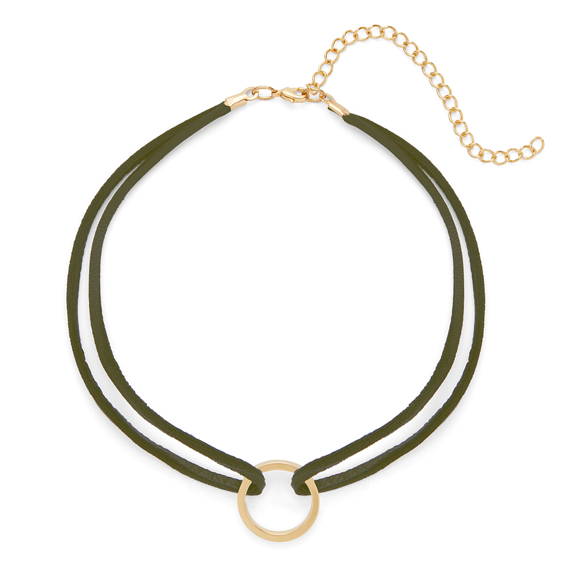 SLATE Luz Choker in Gold and Olive