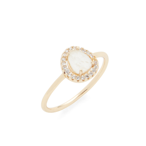 Aster Cosmos Ring in Moonstone