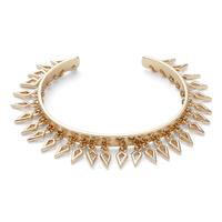 Aster Amaranth Fringe Cuff in Gold