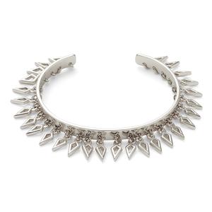 Aster Amaranth Fringe Cuff in Silver