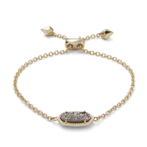 Kendra Scott Elaina Bracelet in Gold and Platinum Drusy