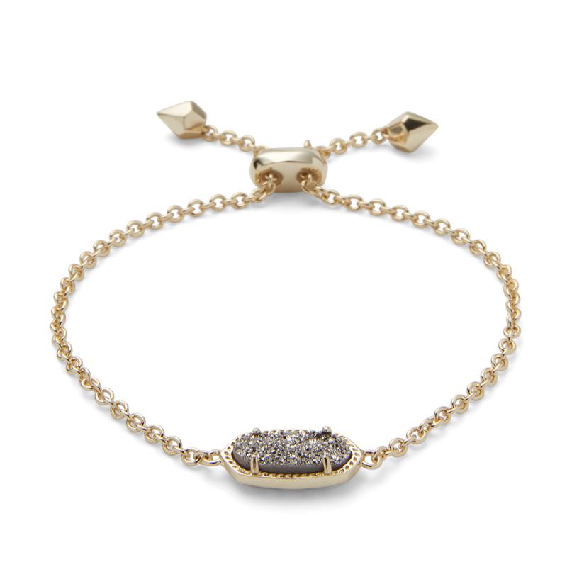 Kendra Scott Elaina Bracelet in Gold and Platinum Drusy