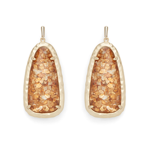 Kendra Scott Lyn Earrings in Crushed Gold
