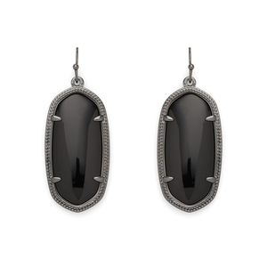 Kendra Scott Elle Earrings in Gunmetal and Black