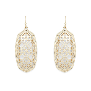 Kendra Scott Elle Earrings in Gold Filigree
