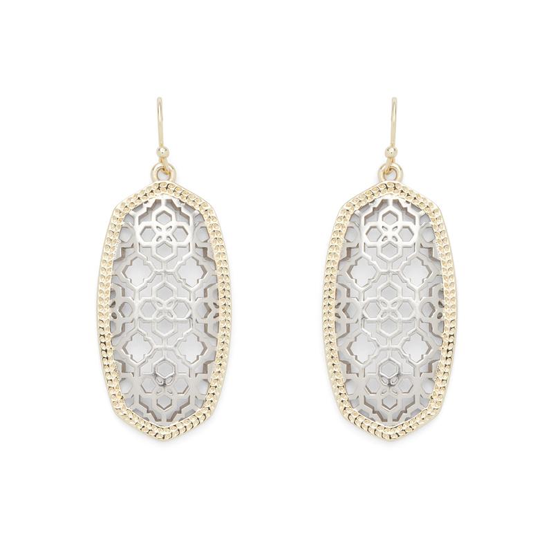 Kendra Scott Elle Earrings in Gold and Silver Filigree