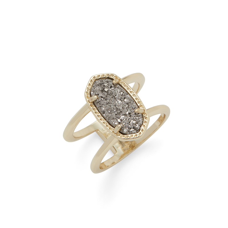 Kendra Scott Elyse Ring in Gold and Platinum Druzy