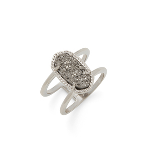 Kendra Scott Elyse Ring in Silver and Platinum Druzy