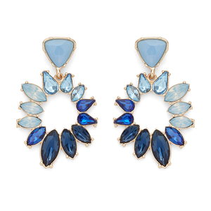 Perry Street Evie Statement Earrings in Blue Ombre