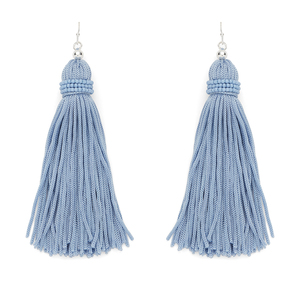 Perry Street Nova Fringe Earrings in Dusty Blue