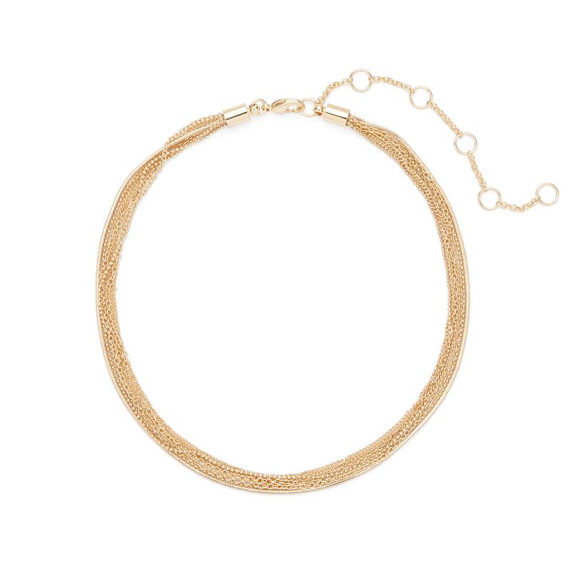 SLATE Twisted Chain Choker in Gold