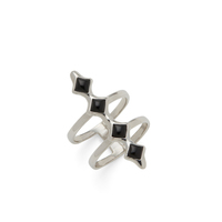 SLATE Ainsley Ring  in Silver and Black Onyx