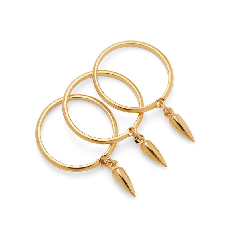 SLATE Zuri Spike Ring in Gold