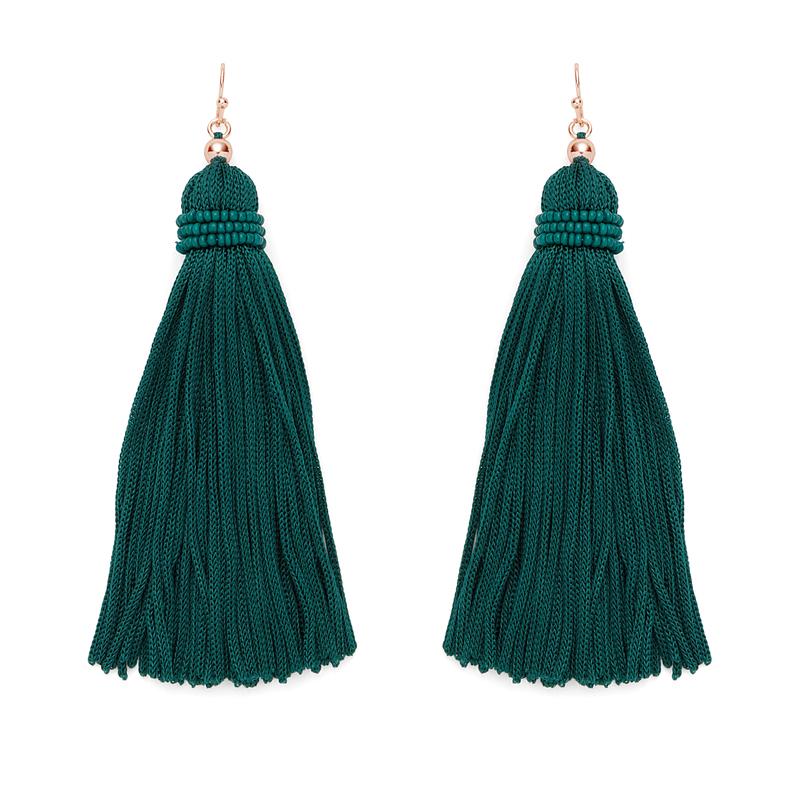 Perry Street Nova Fringe Earrings in Evergreen
