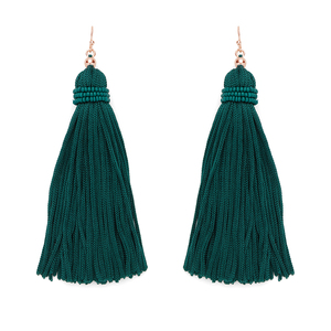 Perry Street Nova Fringe Earrings in Evergreen