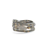 Nakamol Platinum Druzy Wrap Bracelet