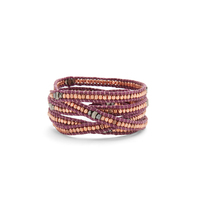 Nakamol Purple Wrap with Rose Gold Beads