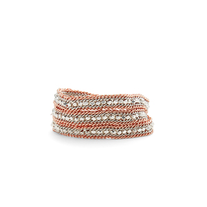 Nakamol Rose Gold and Silver Wrap