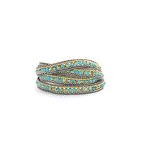 Nakamol Iridescent Turquoise Beaded Wrap