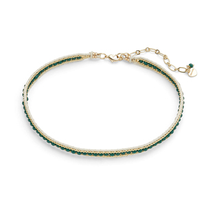 Nakamol Teal Beaded Choker