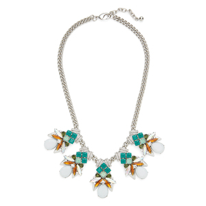 Perry Street Ariel Statement Necklace in Silver