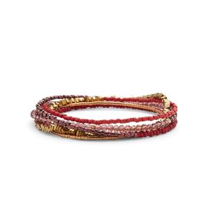 WILDE Cairo Five Times Wrap Bracelet in Berry