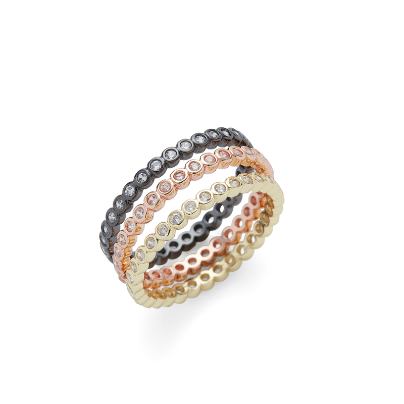 Rudiment Sunset Stacking Rings