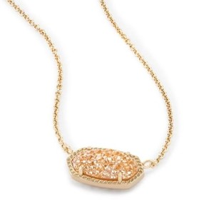 Kendra Scott Elisa Necklace in Brass and Sand Druzy