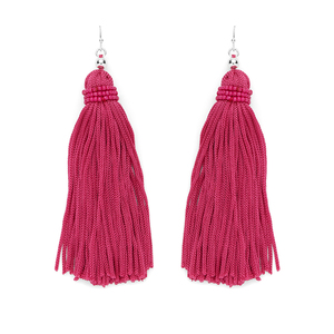 Perry Street Nova Fringe Earrings in Berry