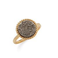 Ava Rose Cheyenne Ring in Gold and Platinum Druzy