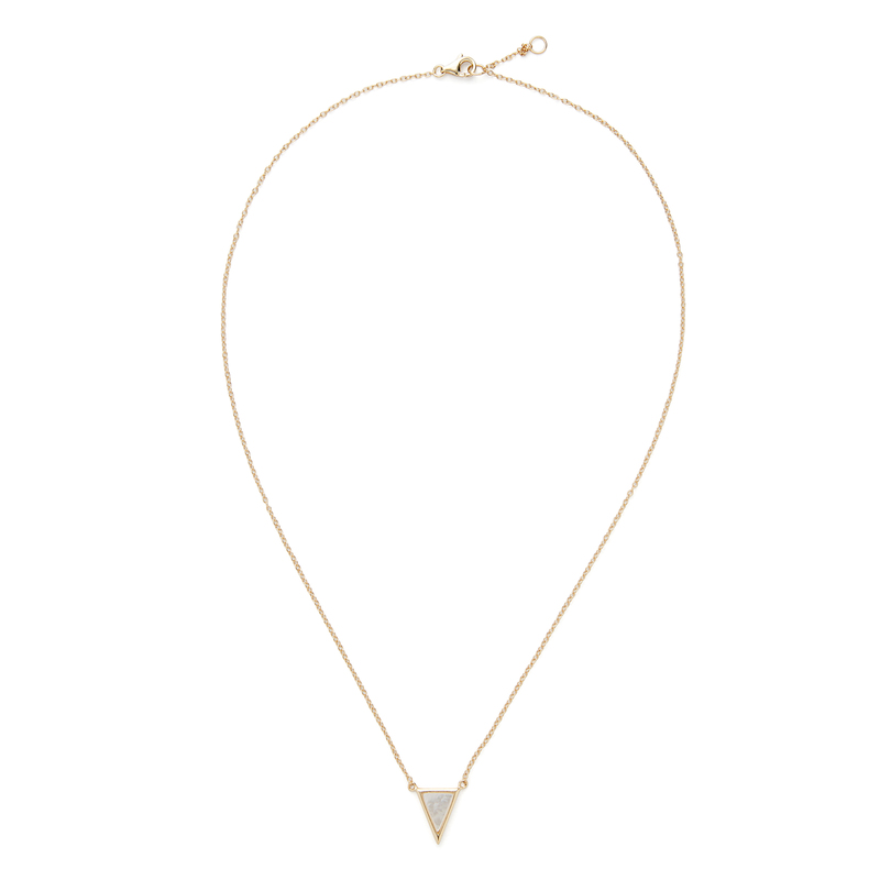 Aster Kerria Mother of Pearl Pendant in Gold