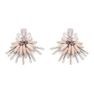 Perry Street Flora Statement Earring in Silver and Pink
