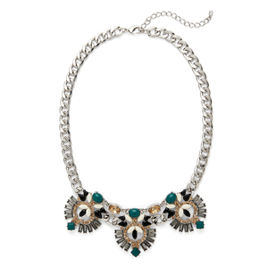 Perry Street Aurora Necklace in Evergreen and Silver