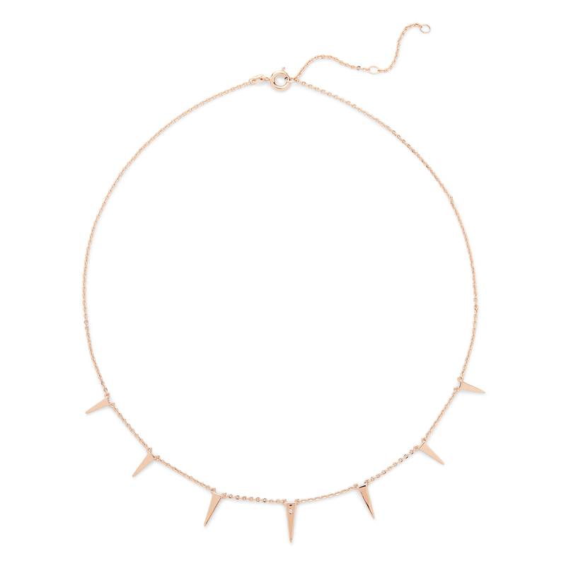 Rudiment Coit Necklace in Rose Gold