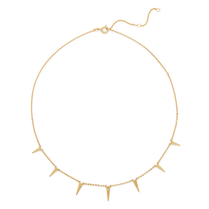 Rudiment Spike Necklace in Gold