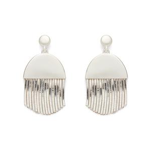 SLATE Maude Drop Earrings in Silver